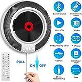 HYDDG CD Spieler tragbar Bluetooth Eingebaut HiFi Sprecher und OLED Anzeige, Schreibtisch/Mauer...