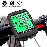 BACKTURE Fahrradcomputer, 19 Multifunktions Drahtloser Wasserdichter Fahrrad Tachometer...