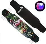 SHLYXY Skateboard Longboards Skating Board mit LED-Rädern Skate Board für Kinder Extremsportarten...