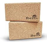 Iberia Yoga Block 2 STK. aus ökologischem Kork 227x120x75mm - Zubehör für Yoga Pilates Handstand...