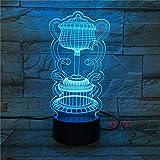 Neuheit Aladdin Magische Lampe 3D LED 7 Farben Ändern Atmosphäre Baby Schlaf Nachtlichter...