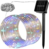 VOLTRONIC 100 LED Solar Batterie Lichterschlauch Lichterkette für innen und außen, erhältlich in:...