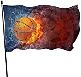 YUHJ Hofflagge 3x5 FT Polyester Flag Fire Basketball Durable and Fade Resistant Home Garden Indoor...