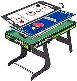 YUHT Spieltisch,Multi Game Table Set 3 in 1 Indoor Entertainment Tabelle 49' mit Billardtisch...