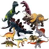SYOSIN Dinosaurier Figuren Spielzeug Set,10 Pcs Dino Figuren Set Klein & Gross Geschenk für Kinder...