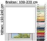 EFIXS Thermorollo Medium - 25 mm Welle - Farbe: Weiss (051) - Größe: 220 x 190 cm (Stoffbreite x...