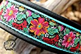 Hundehalsband Leder Floral Blumen Frühling Zugstopp Halsband Handmade