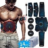RIRGI EMS Bauchmuskeltrainer USB Wiederaufladbar EMS Trainingsgerät für Arm Bauch Beine Bizeps...