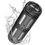 Bluetooth Lautsprecher, Bluetooth Box Tragbarer Musikbox 30h Spielzeit Bluetooth Speaker mit LED...