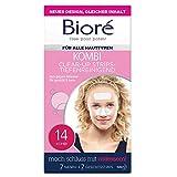 Bioré Clear up Strips - 1 x 14 Stück - Gesicht (7 Strips) und Nase (7 Strips) - tiefenreinigend, mit Witch Hazel