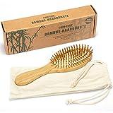 com-four® Natur-Haarbürste aus Bambus - Umweltfreundliche Bürste mit Naturborsten für natürlich...
