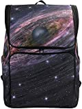 Render 3D Space Schwarzes Loch Sterne Galaxy Planet Rucksack Bookbags College Laptop Daypack Travel...