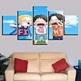 adgkitb canvas Hd Poster kreative wohnkultur malerei 5 Panel Kunst malerei Kinder Poster Wand drucke...