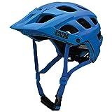 IXS Trail Helm MTB Unisex Erwachsene, Blau Neon, 58-62/M-L