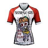 Thriller Rider Sports Damen Manipuiated Sport & Freizeit MTB Fahrradbekleidung Radtrikot Large