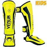 Venum Schienbeinschoner Elite Kinder Jugend Fluo Gelb Kickboxen Muay Thai Striking, Neo Yellow, L