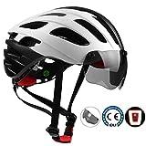 Shinmax Fahrradhelm, MTB Helm Herren Damen Verstellbar Rennradhelm mit abnehmbarem Augenschutz und...