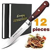 Emojoy Steakmesser, Steakbesteck, 2x6 teiliges Besteckmesser, Steak Besteck Messer, Rostfreier...