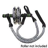 NMT Rollerrad Zugseil Taille Fitnessgerät Widerstand Teilaufbau Bänder Körpersport Übung