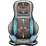Comfier Shiatsu Massagesitzauflage mit Knet-, Rollen-, Vibrations- und Luftkompressionsmassage, Massageauflage mit Wärmefunktion, für Nacken-, Schultern-, Rücken- und Oberschenkel