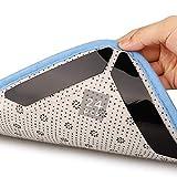 Teppich Antirutschunterlage 24 Stück Antirutschmatte Anti-Curling Rug Gripper Teppichunterlage Doppelseitige Washable Wiederverwendbar Teppich Aufkleber Starke Klebrigkeit