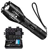 Airand Taschenlampe Led Set Super Helle Taschenlampen 5 Licht Modi Wasserdicht Flashlight mit Zoom...