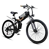 RXRENXIA Folding Elektro-Fahrrad Mit Dem Moped, Folding Elektro-Bikes Für Erwachsene 25 Km/H Biking...