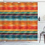 Duschvorhang von ambesonne, Stoff Badezimmer Decor Set mit Haken, Textil, Multi 7, 69W x 75L