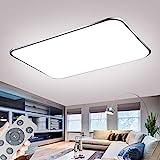 Deckenlampe LED Deckenleuchte Dimmbar 72W mit Fernbedienung Wohnzimmer Lampe Modern Deckenleuchten...