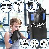 Kinder Boxsack-Set - mit Boxhandschuhen 8oz, Gefüllt, Ø26 cm, H60 cm, Gewicht 10kg, inkl....