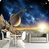 Hintergrundbild 3D Wallpaper Wohnzimmer Große Raum Kosmos 3d personalisierte benutzerdefinierte...