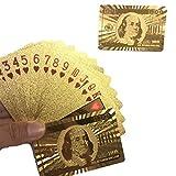 Ballylelly Wasserdichtes design goldene spielkarten langlebig verwendung goldfolie poker spielkarten...