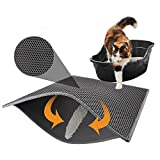 RUNNG Katzentoilette Mat Wurf Trapper of Double-Layer Entwurf, wasserdicht Urin Proof Material, Easy...