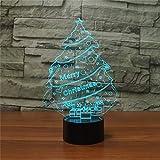 LED dreidimensionale dekorative Leuchten CTJ Weihnachtsbaum Form 3D bunten LED-Vision-Tischleuchte,...