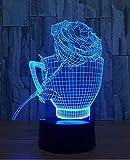 Valentinstag 3D Lampe 7 bunte Geschenk visuelle Note LED Nachtlicht Weihnachtsliebhaber Geschenk...