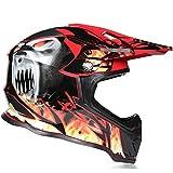 Motocross Helm, Schutzbrille + Handschuhe + Knieschützer Profi Rallye Motorrad Helm Abnehmbarer Und Waschbarer Erwachsenenhelm Set A2