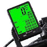 Fahrradcomputer Drahtlos Wasserdicht, 20 Funktionen LCD Geschwindigkeit Fahrradtacho Radcomputer...
