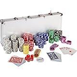 Ultimate Pokerset mit 500 hochwertigen 12 Gramm METALLKERN Laserchips, inkl. 2x Pokerdecks, Alu...