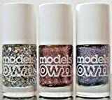 Models Own Mini Glitter Trio Nagellack 3 Blizzard Pink Fizz & Southern Nights Geschenkset
