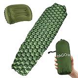 Ragova Isomatte Camping Selbstaufblasbare, Ultraleichte aufblasbare Campingmatte & Reisekissen für...