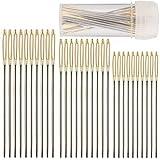 30 Stück Kreuzstich Nadeln, 3 Größen, Handnähnadeln, Extrs lange gerade Sticknadeln mit Nadelrohr, professionelle Stricknadeln