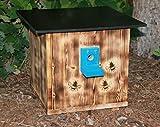 Garten und Holztrends XXXL Premium Hummelhaus (H3) Hummelkasten, Hummelhotel, Hummelpension mit Wachsenmottensperre, Insektenhotel, Bienenhaus,Insektenhaus,Bienen