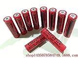 4 Stück 18650 Lithium-Batterie für 18650 Taschenlampe mit hellem Licht 6800 mAh ultrahohe...
