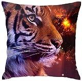 tiao9143 Tiger Dekorative Platz Dekokissen Kissenbezüge Kissenbezug für Zuhause Sofa Schlafzimmer...