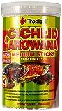 Tropical Cichlid & Arowana Medium Sticks - Farbverstärkende Futtersticks mit Astaxanthin, 1er Pack...