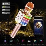 Karaoke Mikrofon Bluetooth, Tragbare Drahtlose Mikrofon Mit 4.1 Lautsprecher Für Erwachsene und...