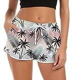 NEWISTAR Damen Badeshorts Kurze Badehose Schnell Trocknendes Strand Wassersport Sporthose für Yoga...