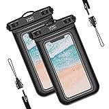 YOSH wasserdichte Handyhülle Unterwasser Wasserfeste (2 stück) Handytasche Wasserdicht für iPhone...