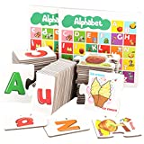 Amagogo ABC Alphabet Flash Cards Educational Learning Großbuchstaben Kleinbuchstaben