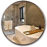 Cylficl Mirrors Moderner runder Wandspiegel für Badezimmer, Roségold, Rahmen aus eloxierter...